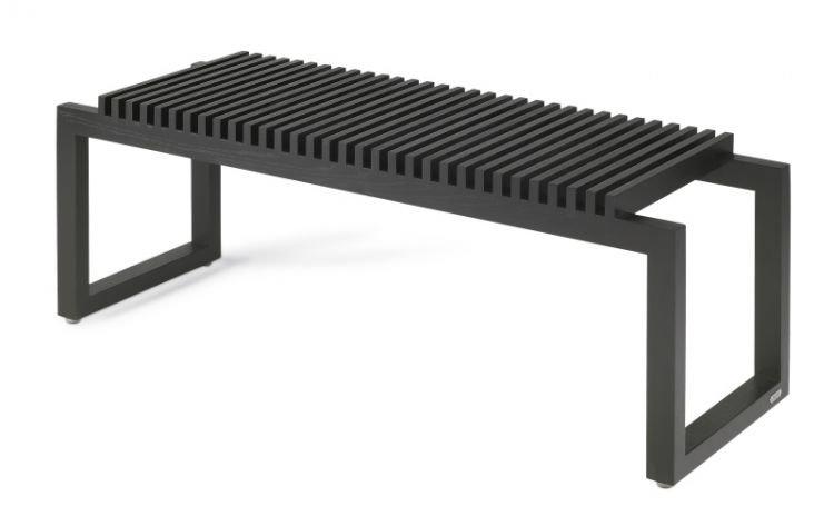 Dębowa Czarna ławka Do Przedpokoju 120 Cm