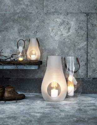 Szklany lampion Design with Light  Holmegaard - XXL